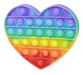 Bubble pops Antistresová společenská hra Srdce duha [HRAČKA]